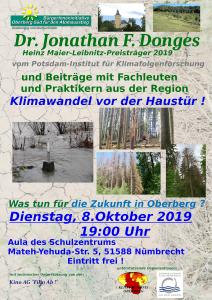 Klimawandel vor der Haustür - Dr. J. Donges, Potsdam Institut für Klimafolgenforschung in Nümbrecht