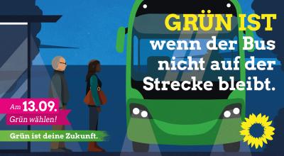 Grün ist - wenn der Bus nicht auf der Strecke bleibt.